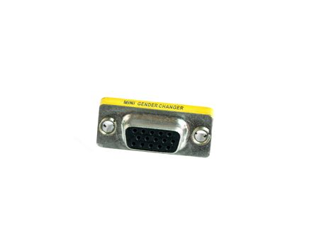 Converter connector VGA female to female  on white background Banque d'images - 143103559