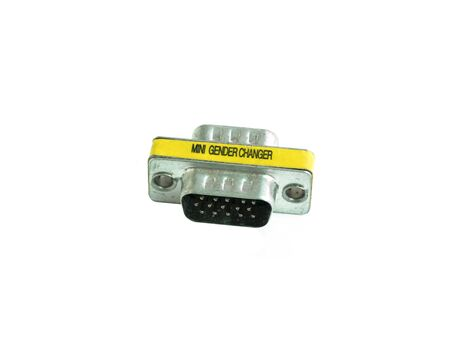 Converter connector VGA male to male  on white background Banque d'images - 141153763