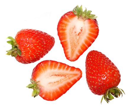 halved: Strawberries - Whole and Halved