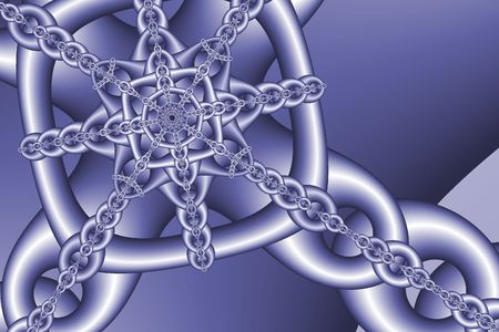 Blue Chains - abstract fractal background texture