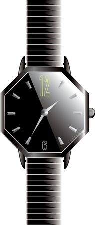 octagonal: Exotic black octagonal watch