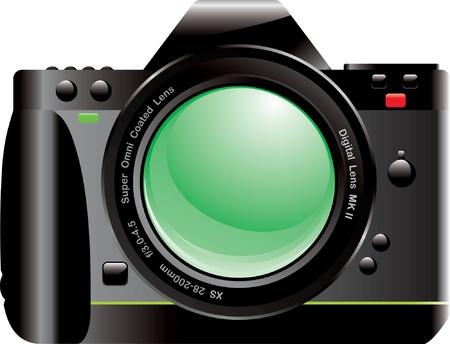 reflex camera: Vector illustration of SLR Camera
