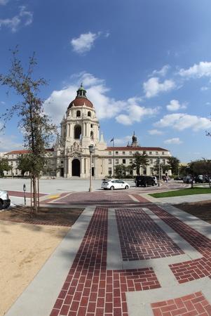 gcc: Fisheye photograph of the City Hall in Pasadena, California, one of the Green Cities California  GCC