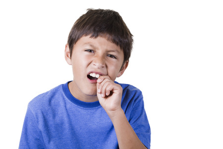Young boy with toothache