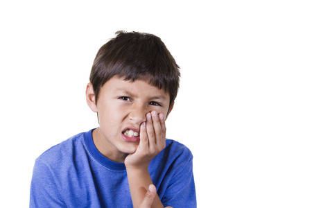Young boy with toothache  Stock Photo