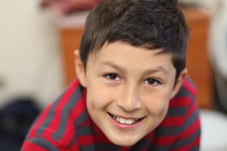 Portrait of smiling boy Stock Photo