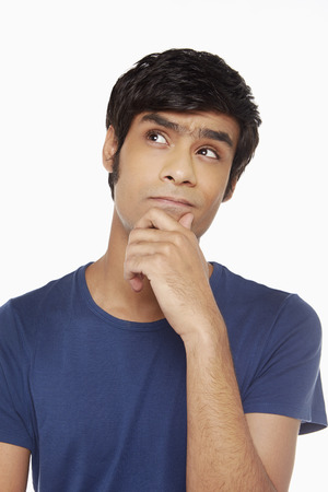 Man contemplating Stock Photo
