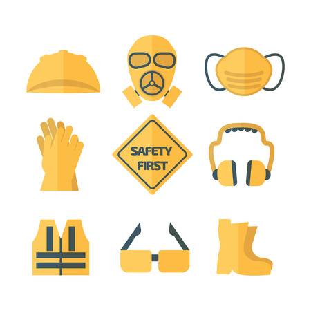 protector: safety first, health and safety waring signs