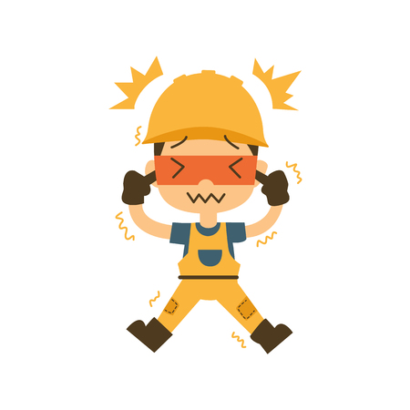 safety first, health and safety, Earache vector illustration