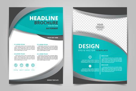 抽象的なベクトル現代チラシ パンフレットアニュアル レポートdesign テンプレートサイズ a4 の白い背景を持つ文房具  イラスト・ベクター素材