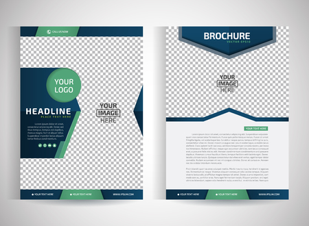 magazine layout design template: Abstract vector modern flyers brochure  annual report design templates  stationery with white background in size a4