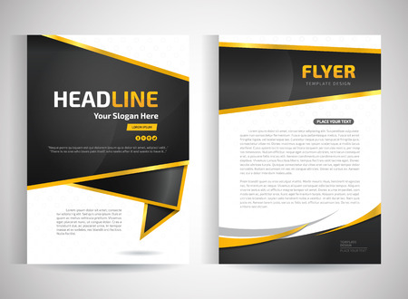 black backgrounds: Abstract vector modern flyers brochure  annual report design templates  stationery with white background in size a4