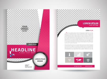 portadas de libros: Resumen de vectores de volantes modernos folleto  Informe Anual  plantillas de diseño  escritorio con el fondo blanco de tamaño A4 Vectores