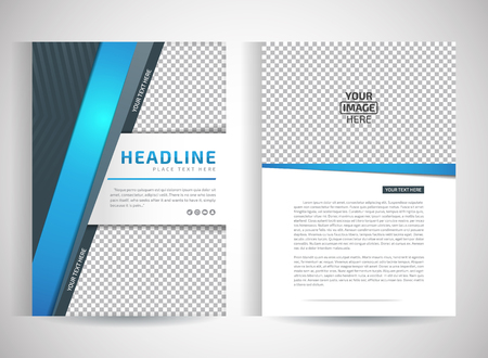 Abstract vector modern flyers brochure  annual report design templates  stationery with white background in size a4