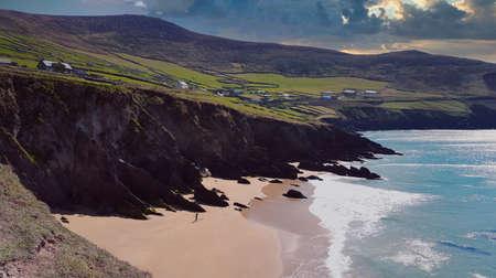 a large sandy beach in ireland