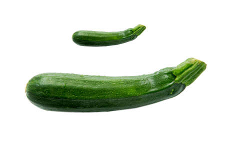 longer: zucchini, green, one less any longer, white background, isolated, vegetables