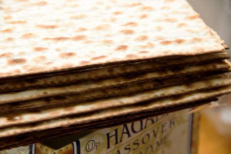 matzah: matzah, built on the box, for Pesach