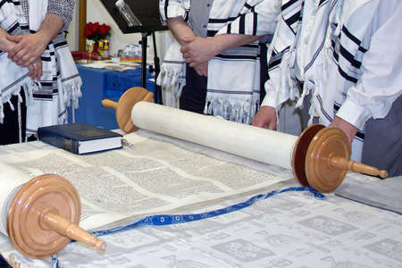 disclosed: Torah script disclosed on the table