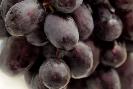 Grapes blue close up, kernels, round fruit