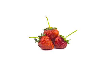 Fresh strawberries on a white background, isolated 免版税图像