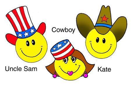 Uncle Sam & Cowboy & Kate photo