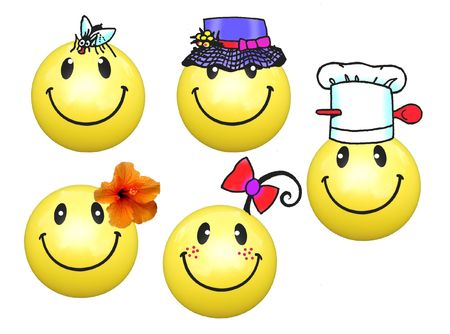 Smilies with Cook Stock Photo