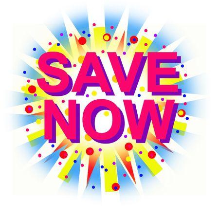 Save Now! Stock Photo