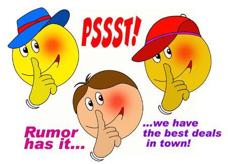 Psssssst! Rumor has it..... Stock Photo