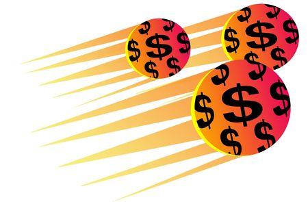3 dollar balls Stock Photo