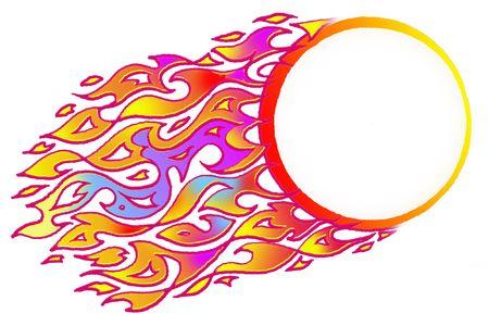 Fireball-Vul in uw eigen bericht Stockfoto