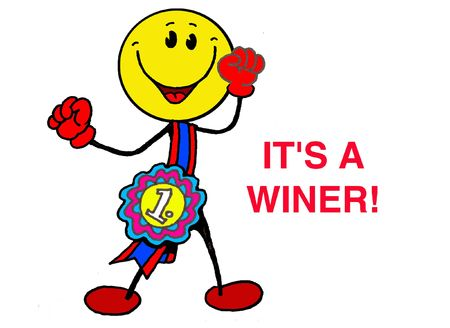 Smiley...its a winner Stock Photo