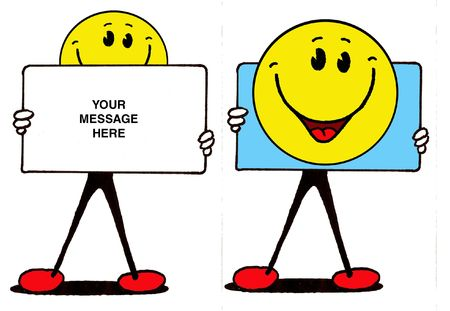 Smilie... Blank Message Board Stock Photo