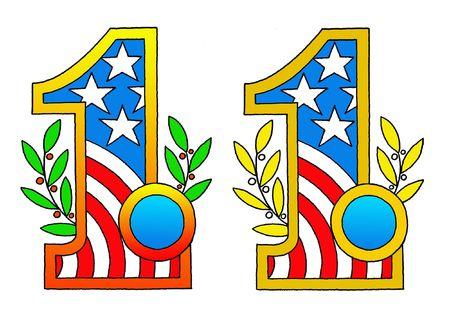 No.1 Flag USA Stock Photo - 6129914