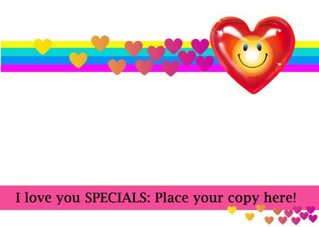 Smilley Heart...Banner Stock Photo