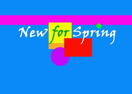 New for Spring .... Banner photo