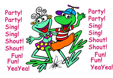 lets party: Lets Frog Party!