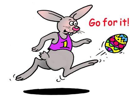 Goal, Bunny, Goal! Stock Photo
