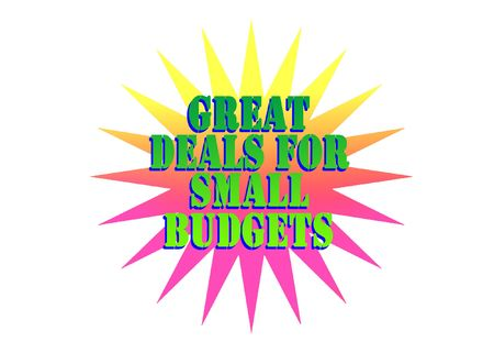 Great deals for small budgets Stock Photo - 6385173