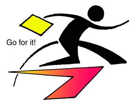 education logo: Go for it!