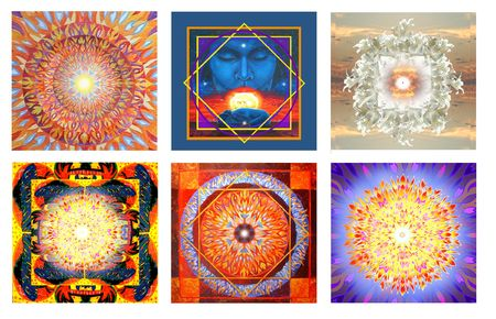tantra: 6 Mandalas Stock Photo