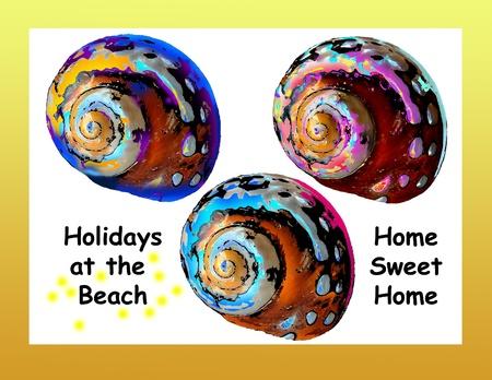 Houses of pop art snails