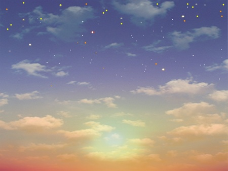 Sunset & Sunrise & Stars Stock Photo - 8524138