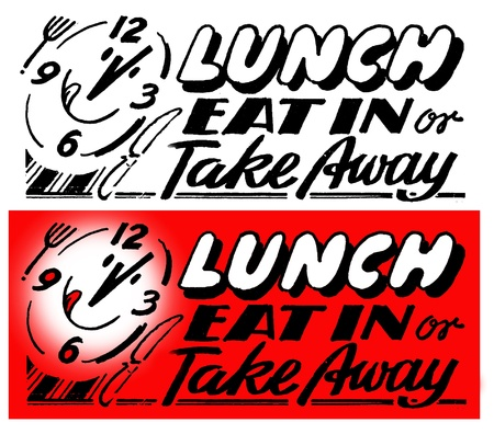 Eat in or take away Stock Photo