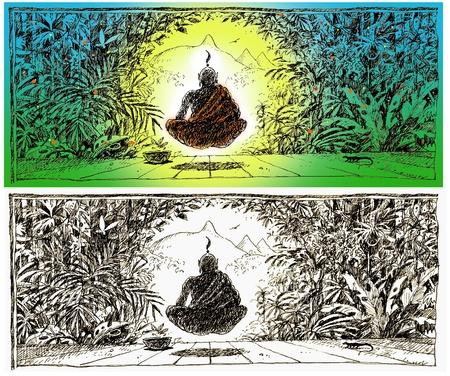 Floating Monk. Ommmmmmmm!