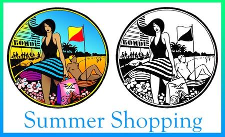 Summer Beach Shopping Stock Photo - 8677405