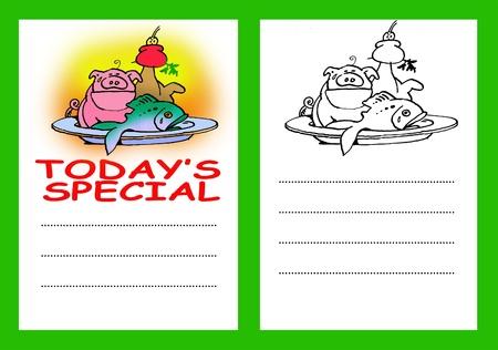 Todays Special Menu Card Stock Photo