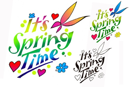 hurray: Its Spring Time! Hurray... Stock Photo