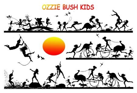 OZZIE BUSH KIDS Stock Photo - 9296253
