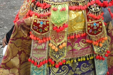 Bali,Indonesia,November 4, 2011, Barong, Dance, custume, detail