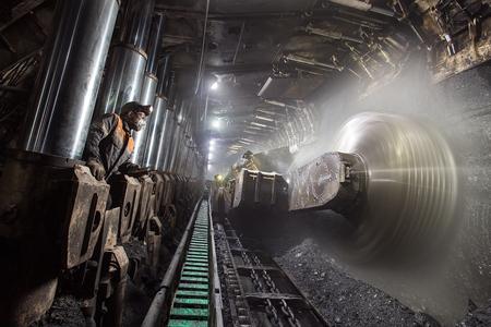 estrazione del carbone Archivio Fotografico